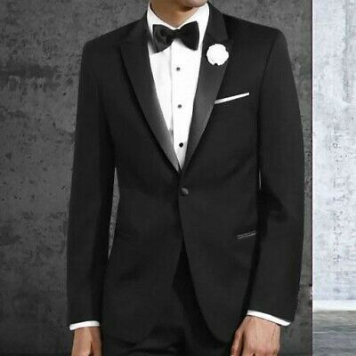 Sizes 34-50 Short 6-Piece Tuxedo Package with Flat Front Pants /& Red Vest