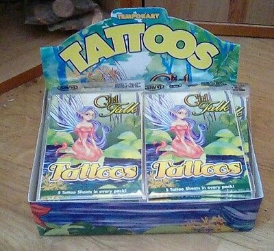 FULL BOX New GIRL TALK TEMPORARY TATTOOS (52 x5 sheets) resale party bags etcs