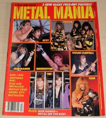Rock Scene March 1986 Ozzy Tnt Stryper Iron Maiden Thor Queensryche Kiss Dio