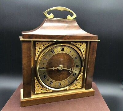 Vintage St James London Brass And Wood Mantel Clock Spares Repair