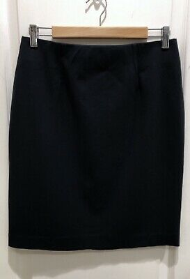 857ea9bb5f J Jill Navy Blue Ponte Pencil Thick Stretch Elastic Waist Skirt SIZE SMALL S