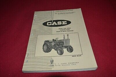 Case 1030 Tractor Dealer's Parts Book Manual MFPA