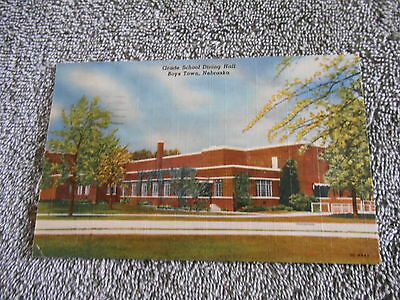 Post Card - A  - Grade School Dining Hall - Boystown - 1956