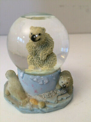 Bear with Penguin and Seal Snow Globe Regency Fine Arts