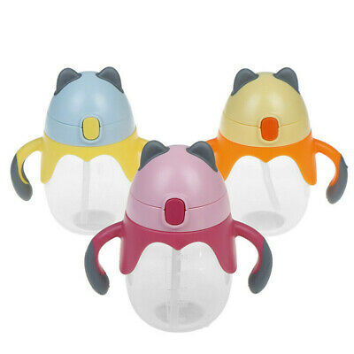 Lovely Baby Cup Kids Children Boys Girls Feeding Drinking Straw Cup Suction Cup