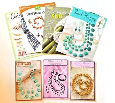 Beading Book LOT Bliss Beads-Bead Happy-Classy&Chic Strung Jewelry-Knit-Gallery