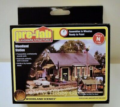 Woodland Scenics N PF5207  Scale Woodland Station. Pre-Fab Building Kit. New