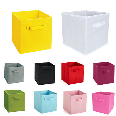 Home Fabric Cube Basket Storage Closet Toy Storage Box Container