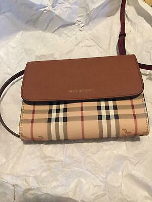275e1a475522 Authentic Burberry Small Loxley Haymarket Check Crossbody Bag