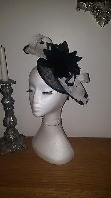 black and white fascinator hatinator weddings/special occasions/the races