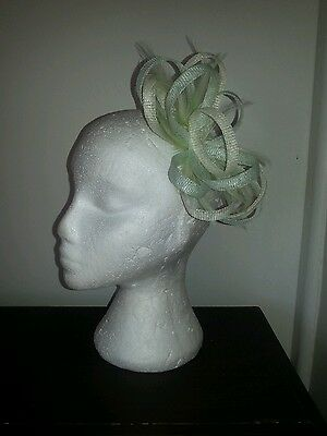 Mint Green and cream/ivory Fascinator for weddings/special occasions