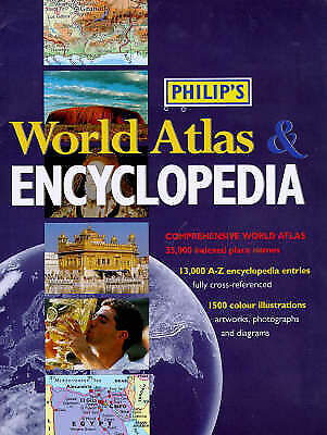 Philip's Encyclopedia and World Atlas,    Used Book   Fast Delivery