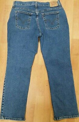 fd1b204c748 LEVIS 550 WOMENS Classic Relaxed Bootcut Jeans light wash cotton ...