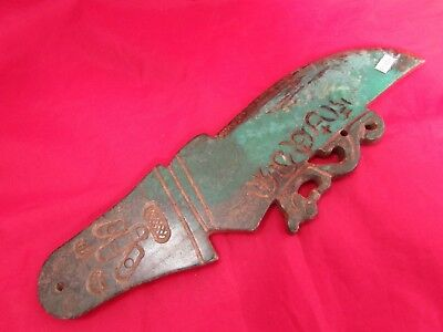 Chinese old green jade handmade carving is worth collecting jade Knife B1416