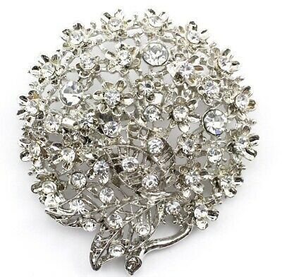 Fashion Style Gorgeous Amber Rhinestone Clear Quartz Crystal Brooch Pin Pins & Brooches Jewelry & Watches Vintage Kc