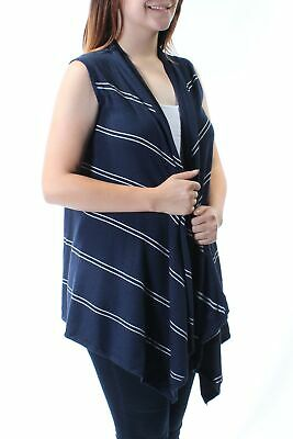 3ddfb3ea484aed TOMMY HILFIGER  70 Womens New 1472 Navy Striped Sleeveless Trapeze Sweater  S B+B