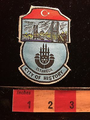 ISTANBUL City Of History Country Of TURKEY Middle East Patch ~ Bridge S60A