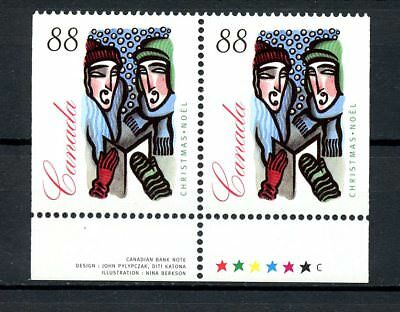 Canada MNH #1535as Booklet Pair with Margins Christmas Carolling 1994 H174