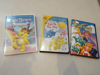 Lot of 3 CareBears Movie TV Episodes DVD's
