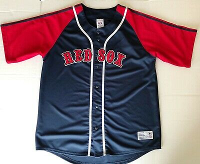 302388586 DYNASTY APPAREL TRUE Fan Baseball Mens 2XL Boston Red Sox Jersey 187 ...