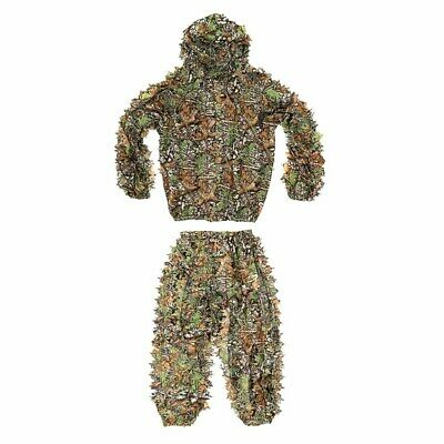 2fc4200fcf48c Hunter Ghillie Suit Set 3D Lifelike Leafy Cloth Woodland Camouflage Clothing