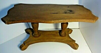 Small Antique Table Solid Wood Display Riser Empire Style Small Scale Furniture
