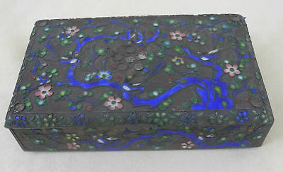 Antique Cloisonne Enameled Box Marked China