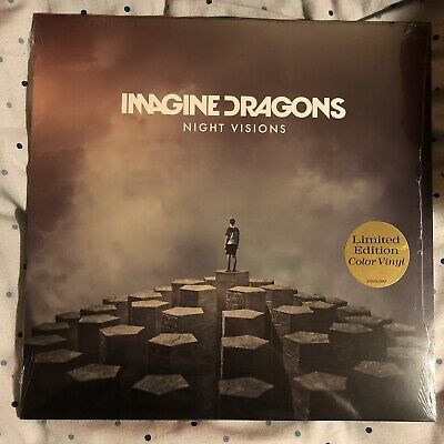 Imagine Dragons Night Visions Limited Edition Color Vinyl Lavender Purple 1/2000