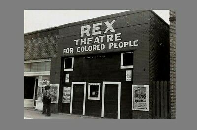 1939 Rex Colored Only Movie Theater PHOTO, Black Negro, Mississippi SEGREGATION