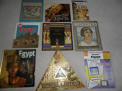 ANCIENT EGYPT BOOKS & HANDS-ON ACTIVITIES Grades 4-6+ PYRAMIDS MUMMIES King Tut