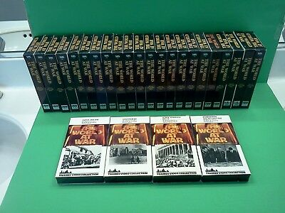 Vintage THE WORLD AT WAR Complete 26 VHS Set WW II HBO Thames Collection