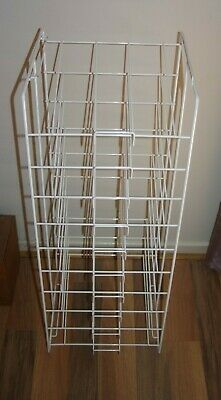 "Sturdy Wire Scrapbooking 12"" x 12"" Paper Storage Rack 10 Slot White Pick up 3810"