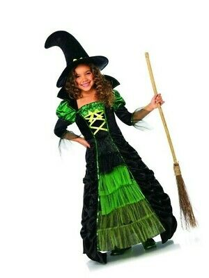 Leg Avenue Children's Storybook Witch Costume Black/Green Dress and Hat