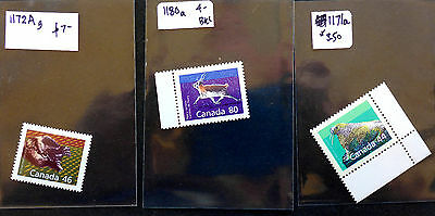 CANADA  #1171a #1172a #1180a VF MINT NH** CAT.$14.50 WILDLIFE SERIES BOOKLET SIN
