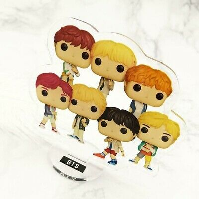 Kpop BTS Mini Cartoon Figure Standee Doll V JIMIN Acrylic Standing Action Gift
