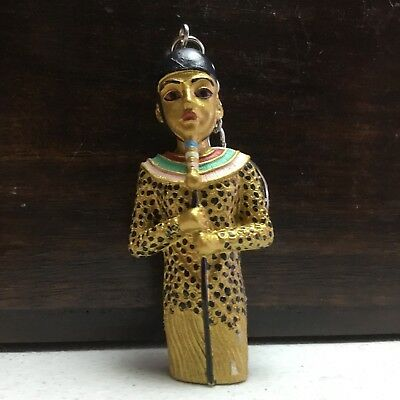 Egyptian  Keyring Gold Colored Egypt Ancient Key Ring