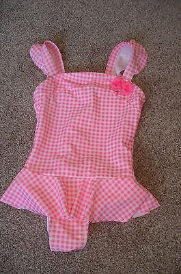 Young Dimension GIRLS Pretty Gingham Check SWIMMING COSTUME AGE 12-18 months