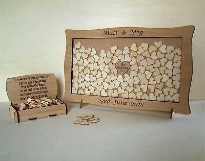 Wedding Anniversary Guest Book Personalised Alternative Drop Box All Occasions