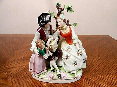 Antique DRESDEN Germany SITZENDORF Porcelain Figurine