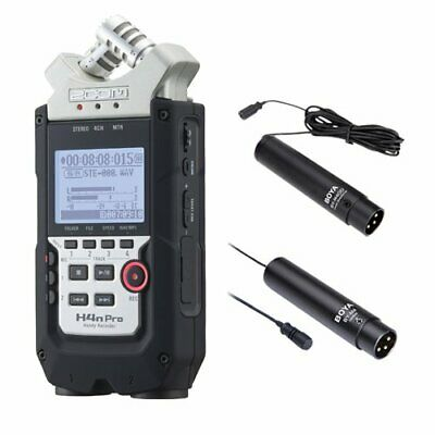 Zoom H4n PRO 4-Channel Handy Recorder Interview Microphone Kit