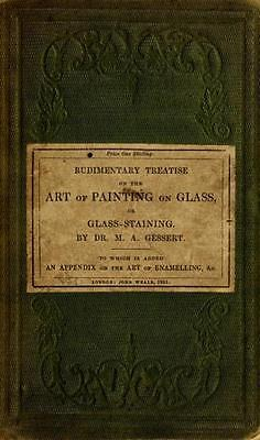 51 Old Stained & Painted Glass Books On Dvd - Church Windows Enamel Art History