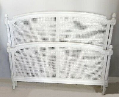 Beautiful Vintage French Louis Xv Style Cane Double Bed