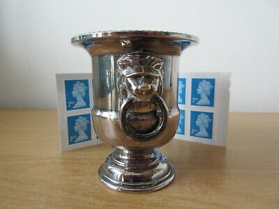 Viners Silver Plate Urn with Lion Head Handles - 7.5cm tall - Excellent