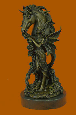 Able Deco Butterfly Angel Nymph Fairy Fantasy Art Collector Bronze Marble Statue Eg Art Sculptures