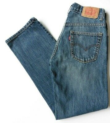 Boys' Men's Levis 505 Straight Leg Jeans W25 L28 Blue Levi Strauss Size 25S