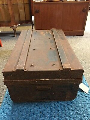 Metal Trunk table vintage Toy Box Jones Brothers Wolverhampton