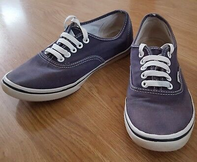 Vans Mens Off The Wall Purple Classic Chambray Trainer Unisex Size UK 5 US 6