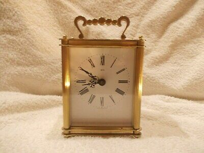 Used Brass Smiths Quartz Carriage Clock In Working Order