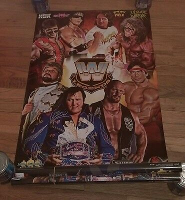 WWE LEGENDS POSTER Stone Cold Roddy Piper Shawn Michaels Bret Hart Ted DiBiase