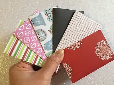 6 Handmade Christmas Birthday Gift Card Holder Mini Envelope
